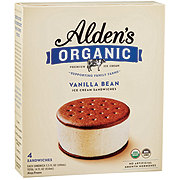 Alden's Organic Vanilla Bean Ice Cream Sandwiches