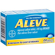 Aleve 220 mg  Naproxen Sodium Caplets