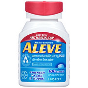 Aleve 220 mg  Naproxen Sodium Caplets  with Easy Open Arthritis Cap