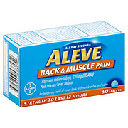 Aleve Back And Muscle Pain Tablets