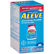 Aleve Pain Reliever/Fever Reducer Naproxen 220 mg Caplets With Soft Grip Arthritis Cap