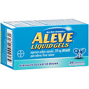 Aleve Pain Reliever/Fever Reducer Naproxen 220 mg Liquid Gels