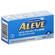 Aleve Pain reliever/fever reducer Naproxen 220 mg Tablets