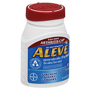 Aleve Pain Reliever/Fever Reducer Naproxen 220 mg Tablets (Easy Open Athritis Cap)