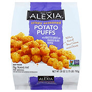 Alexia Crispy Seasoned Potato Puffs with Roasted Garlic & Cracked Black Pepper