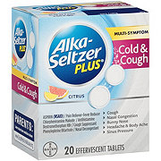 Alka-Seltzer Plus Cold And Cough Formula Citrus Effervescent Tablets