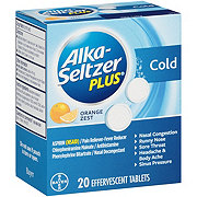 Alka-Seltzer Plus Cold Orange Zest Tablets