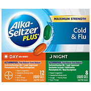Alka-Seltzer Plus Day/Night Multi-Symptom Cold and Flu Formula Combo Pack Liquid Gels