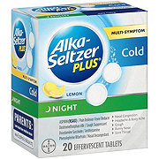 Alka-Seltzer Plus Multi-Symptom Night Cold Lemon Tablets