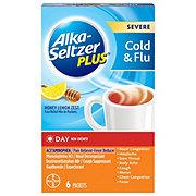 Alka-Seltzer Plus Severe Cold + Flu Day Honey Lemon Zest Packets