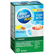 Alka-Seltzer Plus Severe Cold + Flu Night Honey Lemon Zest Packets