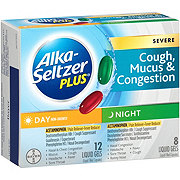 Alka-Seltzer Plus Severe Day & Night Cough Mucus & Congestion Liquid Gels