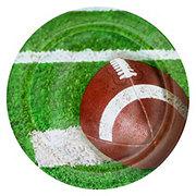 All About U Melamine Football Applique Plate