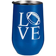 All About U Stemless Football Blue Cup