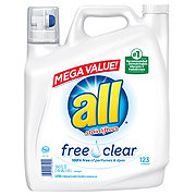 All Free And Clear Liquid Detergent, 123 Loads