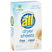 All Free Clear Fabric Softener Dryer Sheets