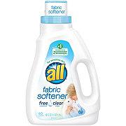 All Free Clear Liquid Fabric Softener 60 Loads