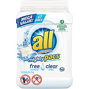 All Mighty Pacs Super Concentrated Free Clear HE Laundry Detergent