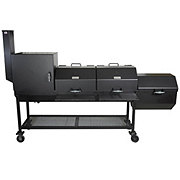 All Seasons Feeders Charcoal BBQ Grill with Firebox & Smoker