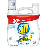 All Small & Mighty Free Clear 3X Ultra Laundry Detergent with Stainlifters, 96 Loads