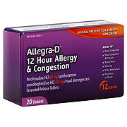 Allegra -D 12 Hour Allergy and Congestion