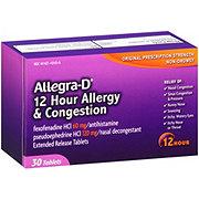 Allegra -D 12 Hour Original Prescription Strength Fexofenadine HCI 60 mg/Pseudoephedrine HCI 120 mg Tablets