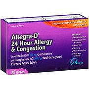 Allegra -D 24 Hour Original Prescription Strength Fexofenadine HCI 180 mg/Pseudoephedrine HCI 240 mg Tablets