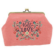 Allegro Basics Hello Love Lock Clutch Pink