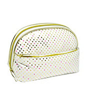 Allegro Basics Party Dot Double Zip Round Top Clutch