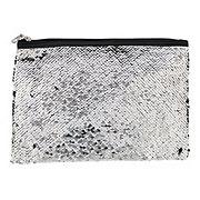 Allegro Basics Sequins Flat Clutch Silver/black