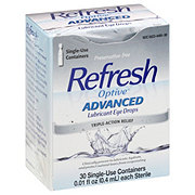 Allergan Refresh Optive Advanced Sensitive Lubricant Eye Drops Single Use Containers