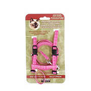 Alliance Harness with Matching Lead for Cats Pink