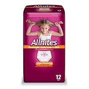 Allnites Overnight Girls Underwear 12 pk