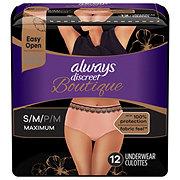 Always Discreet Boutique Incontinence Underwear Maximum Protection Peach Small / Medium