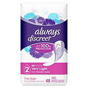 Always Discreet Incontinence Liners Very Light Absorbency