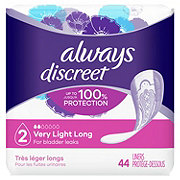 Always Discreet Incontinence Liners Very Light Long Length