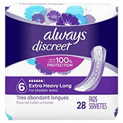 Always Discreet Incontinence Pads Extra Heavy Absorbency Long Length