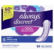 Always Discreet Incontinence Pads Heavy Absorbency, Long Length