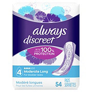 Always Discreet Incontinence Pads Moderate Absorbency Long Length