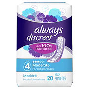 Always Discreet Incontinence Pads Moderate Regular Length