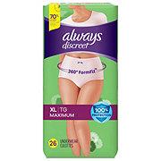 Always Discreet Incontinence Underwear for Women Maximum Classic Cut, 26 ct