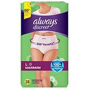 Always Discreet Incontinence Underwear for Women Maximum Classic Cut, 28 ct