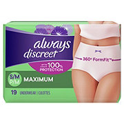 Always Discreet Incontinence Underwear Maximum Protection Small / Medium