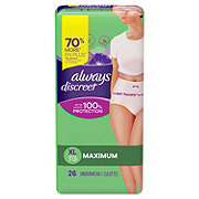 Always Discreet Incontinence Underwear Maximum Protection XL