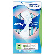 Always Infinity Size 2 Heavy Sanitary Pads with Wings Unscented