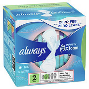 Always Infinity Size 2 Super Sanitary Pads with Wings Unscented