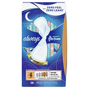Always Infinity Size 4 Overnight Sanitary Pads with Wings Unscented