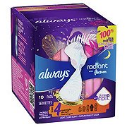 Always Radiant Overnight Size 4 Light Clean Scent Pads