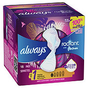Always Radiant Size 1 Regular Light Clean Scent Pads