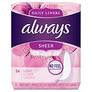Always Sheer Daily Liners Unscented Wrapped Light